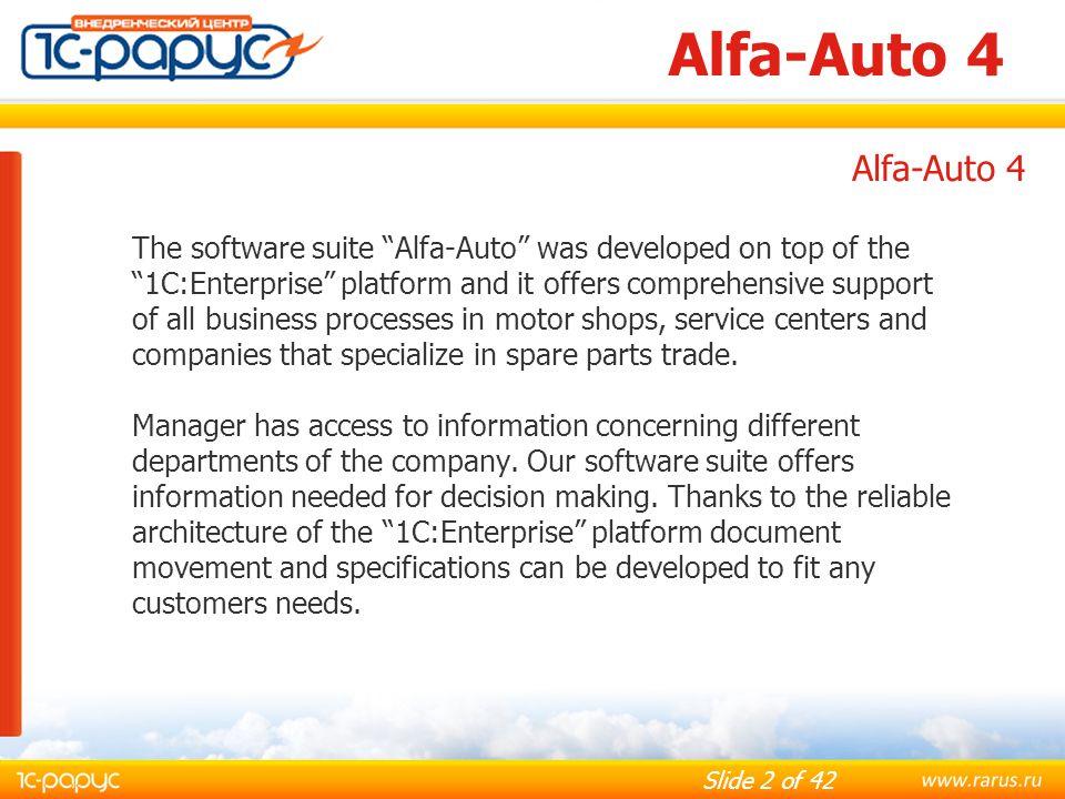 Alfa-Auto 4 Alfa-Auto 4.