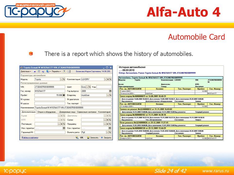 Alfa-Auto 4 Automobile Card