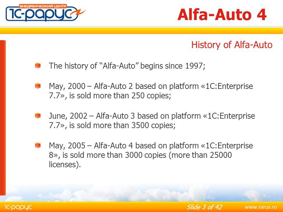 Alfa-Auto 4 History of Alfa-Auto