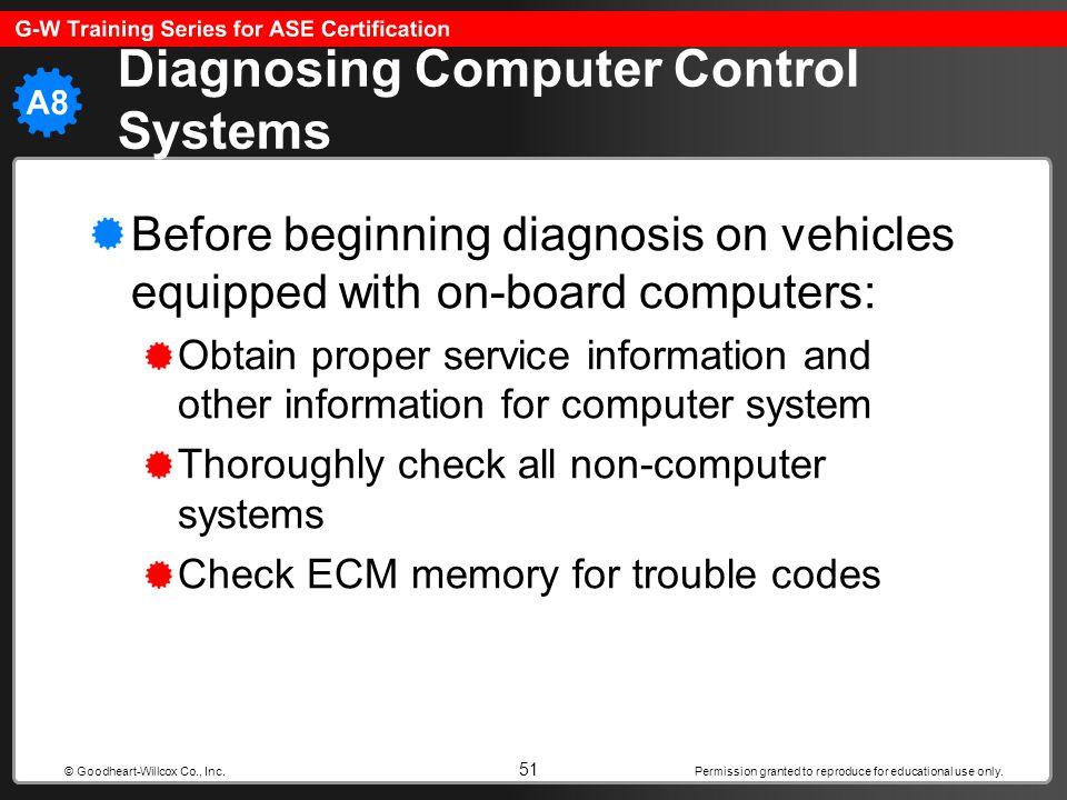 Diagnosing Computer Control Systems