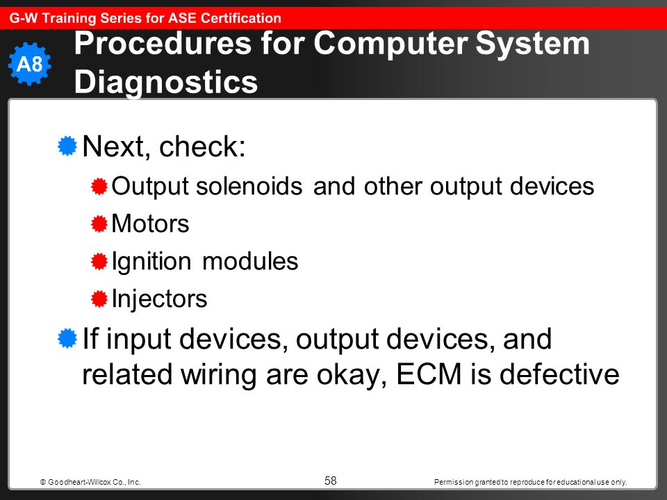 Procedures for Computer System Diagnostics