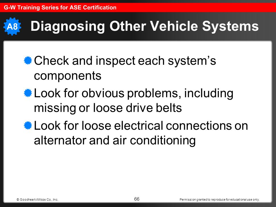 Diagnosing Other Vehicle Systems