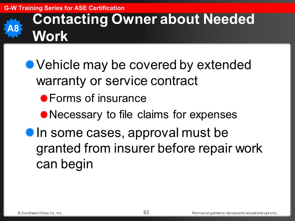 Contacting Owner about Needed Work