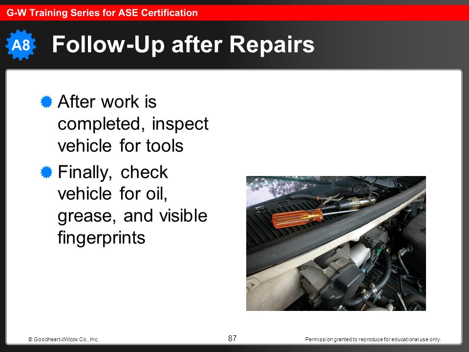Follow-Up after Repairs