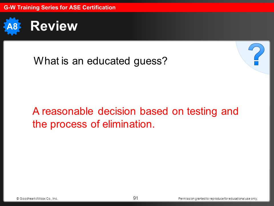 Review What is an educated guess