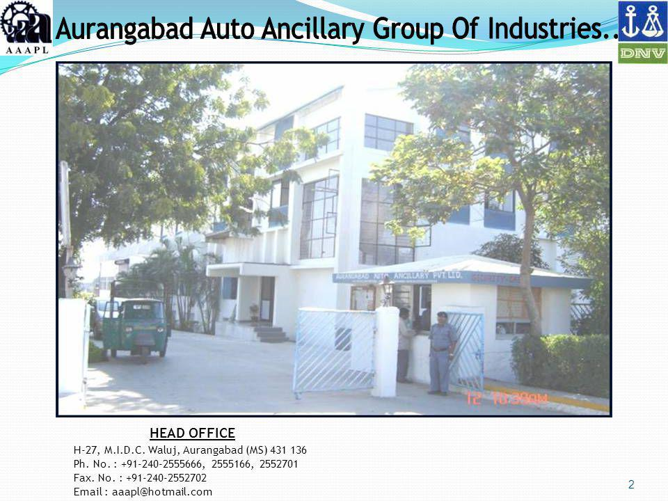 Aurangabad Auto Ancillary Group Of Industries..