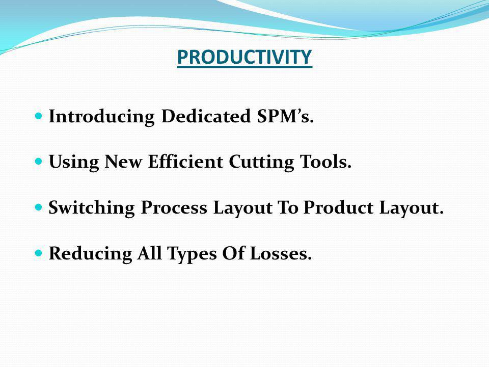 PRODUCTIVITY Introducing Dedicated SPM's.