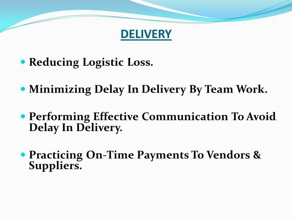 DELIVERY Reducing Logistic Loss.