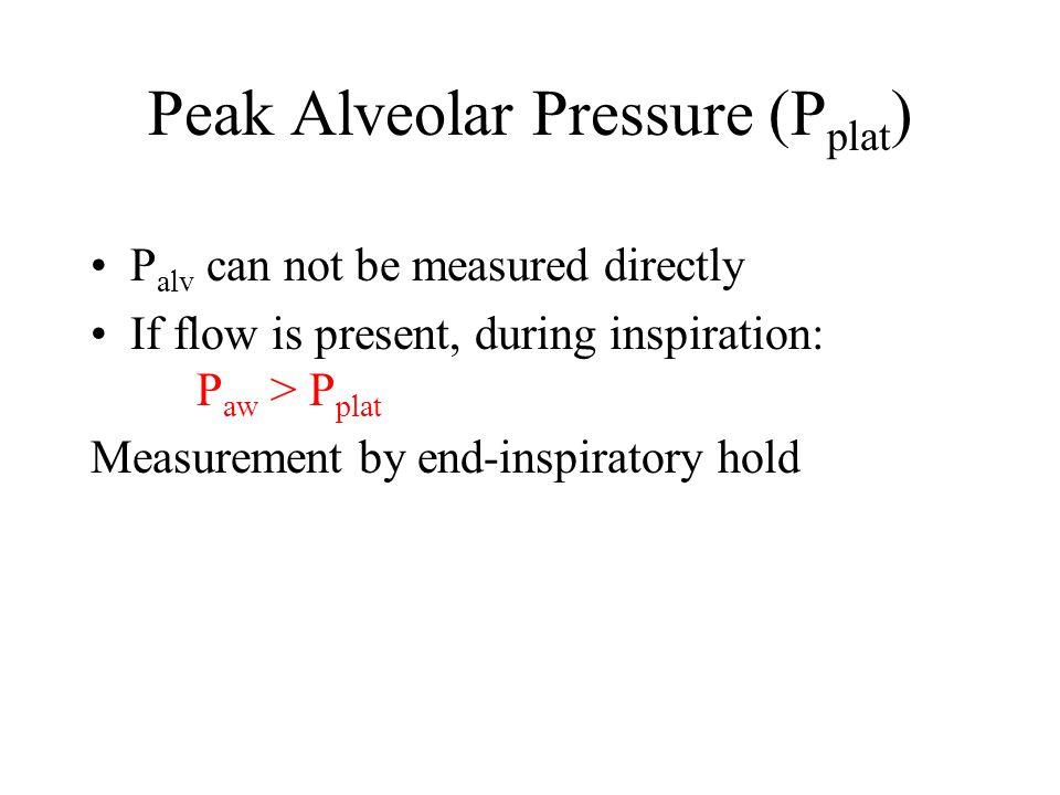Peak Alveolar Pressure (Pplat)