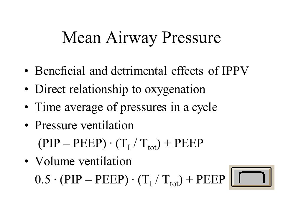 Mean Airway Pressure Beneficial and detrimental effects of IPPV