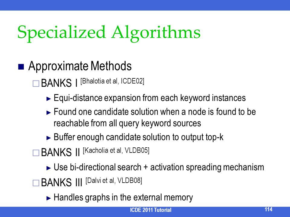 Specialized Algorithms