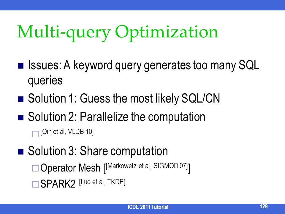 Multi-query Optimization