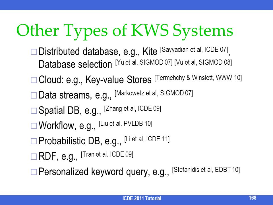 Other Types of KWS Systems
