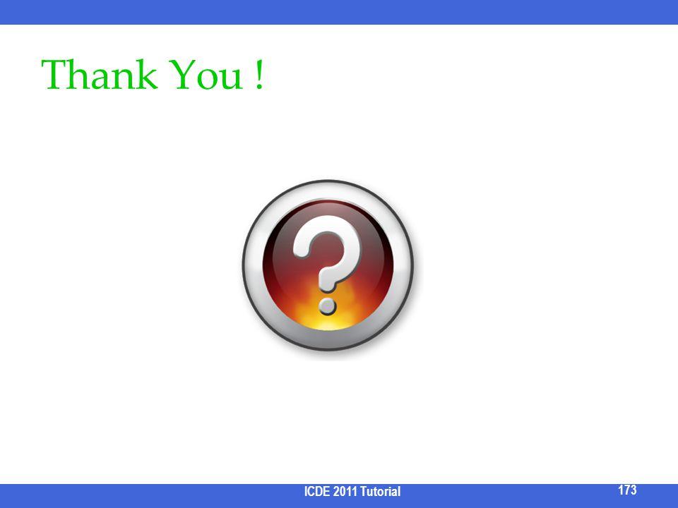 Thank You ! ICDE 2011 Tutorial