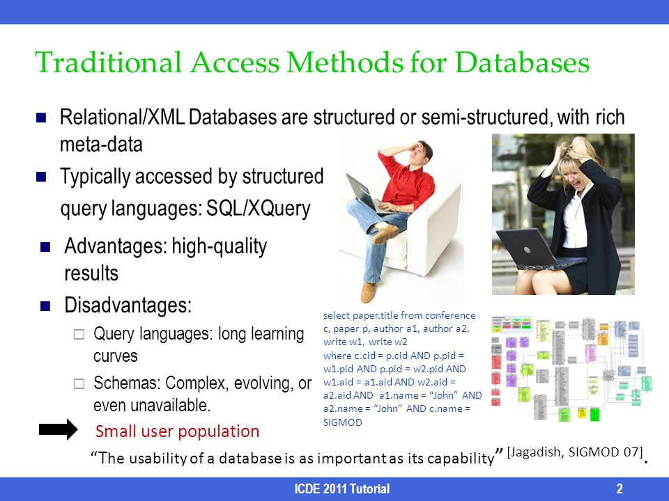 Traditional Access Methods for Databases