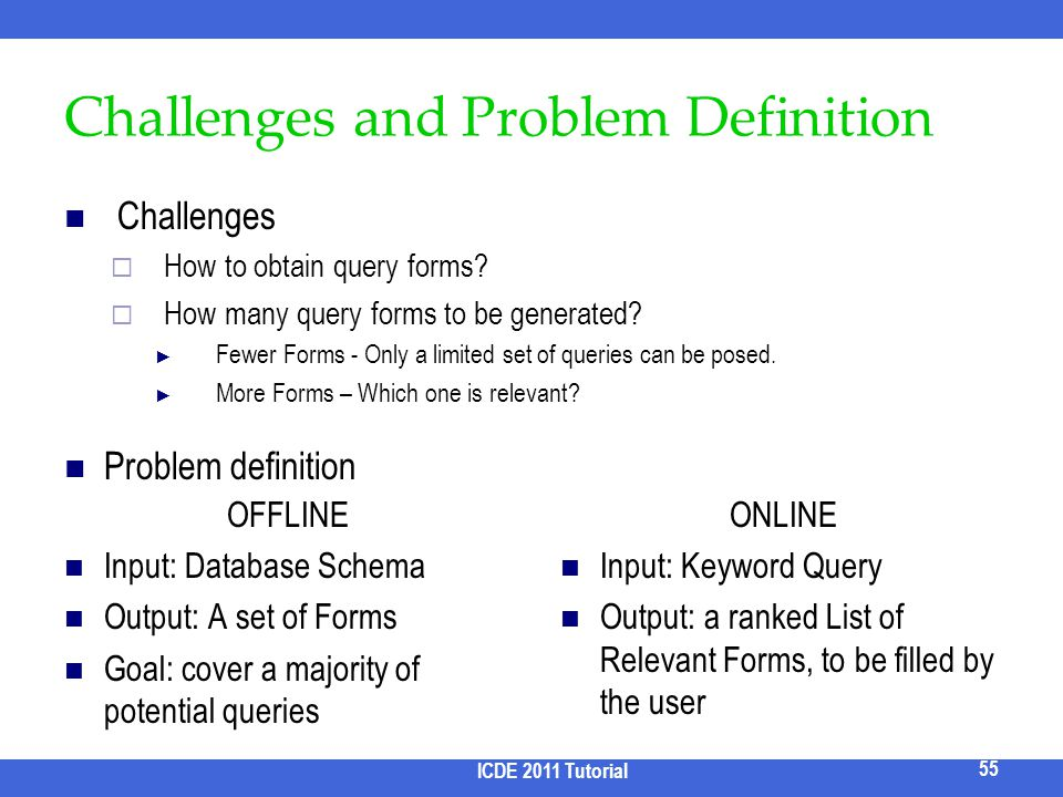 Challenges and Problem Definition