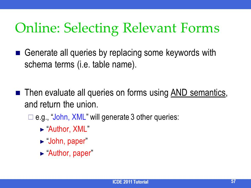 Online: Selecting Relevant Forms