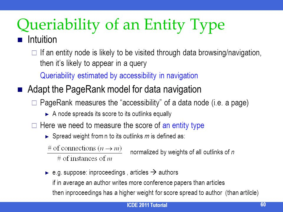 Queriability of an Entity Type