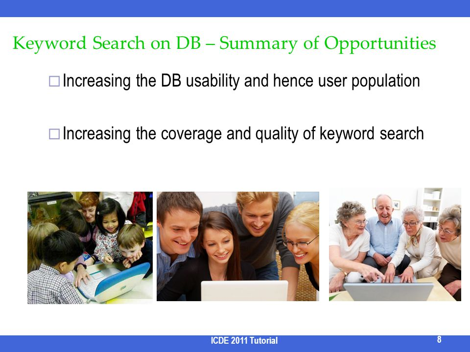 Keyword Search on DB – Summary of Opportunities