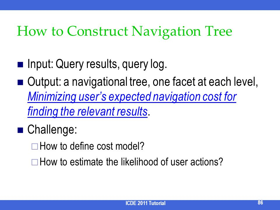 How to Construct Navigation Tree