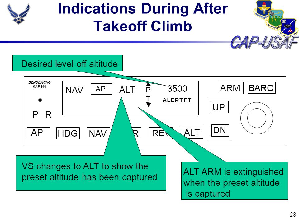 Indications During After Takeoff Climb