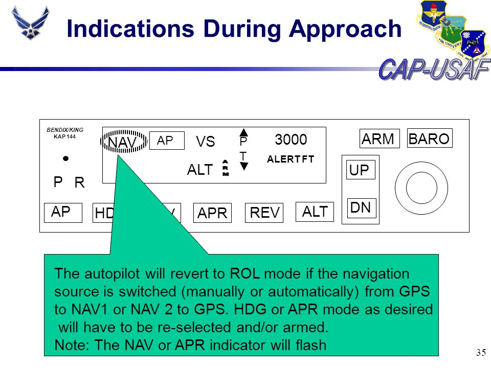 Indications During Approach