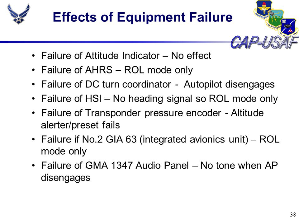 Effects of Equipment Failure