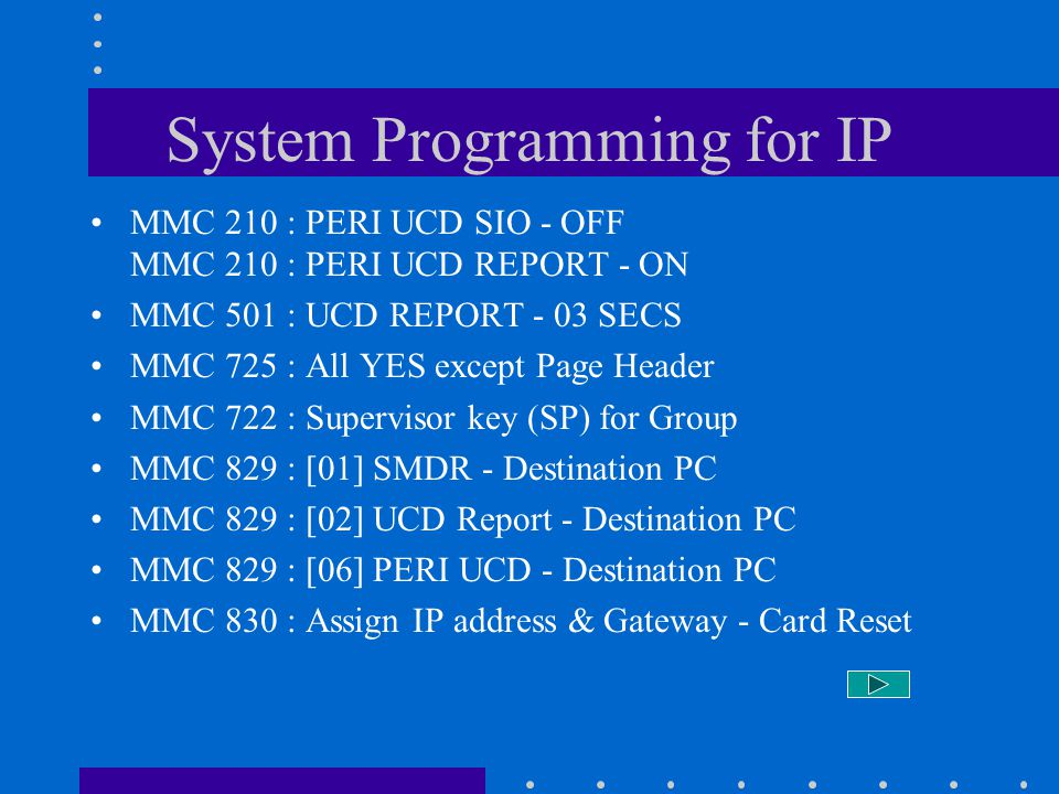 System Programming for IP
