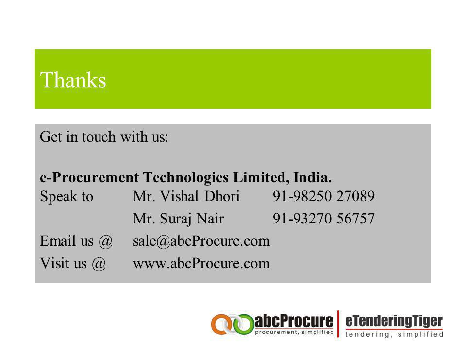 Thanks Get in touch with us: