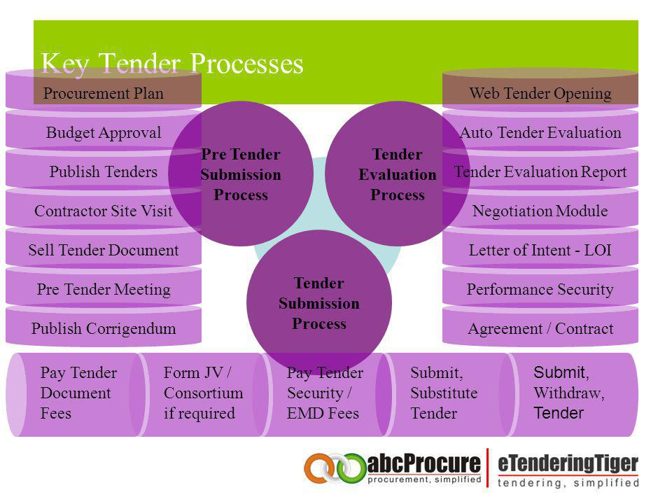 Key Tender Processes Procurement Plan Web Tender Opening