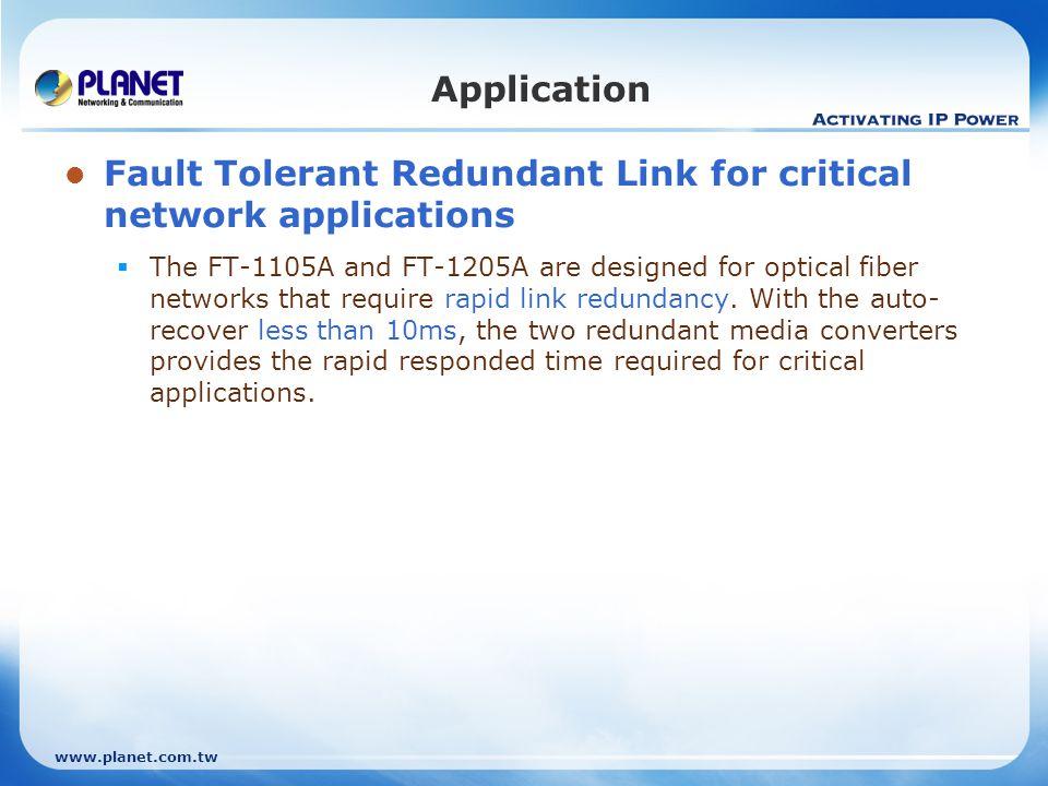 Fault Tolerant Redundant Link for critical network applications