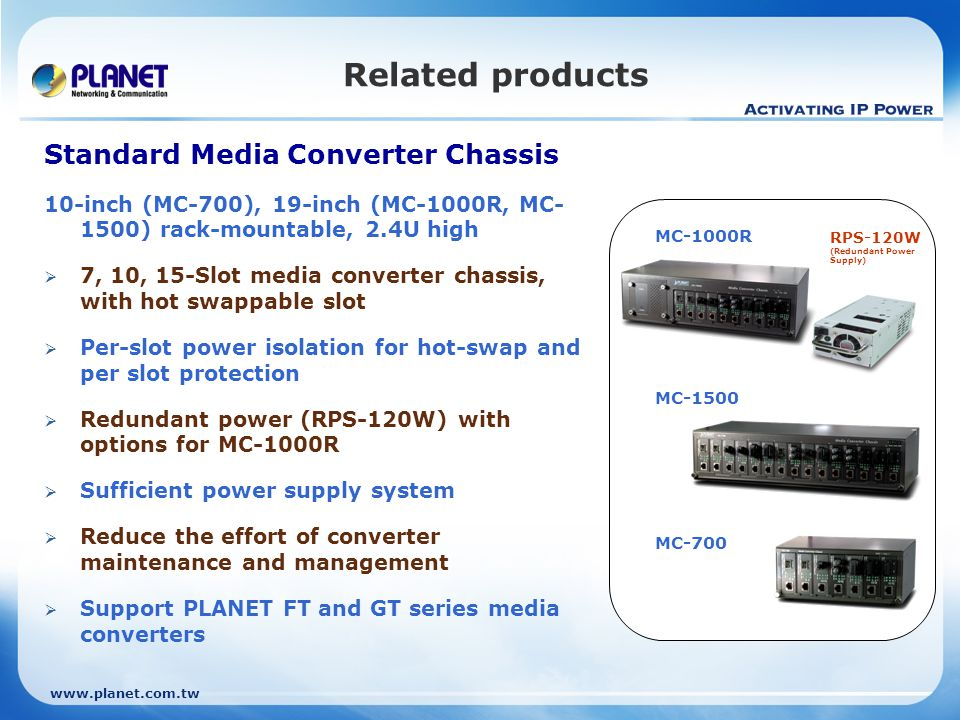 Related products Standard Media Converter Chassis