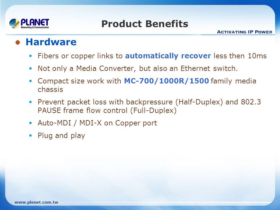 Product Benefits Hardware