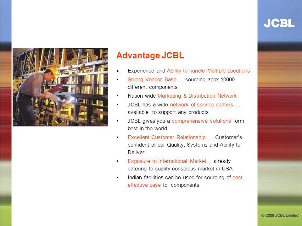 Advantage JCBL • Experience and Ability to handle Multiple Locations