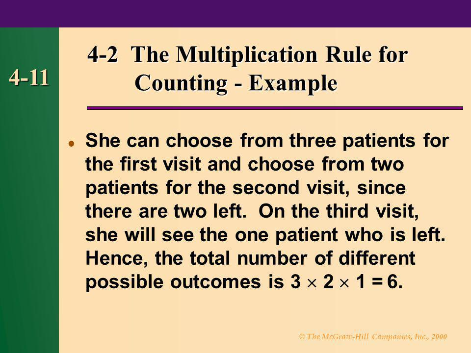 4-2 The Multiplication Rule for Counting - Example