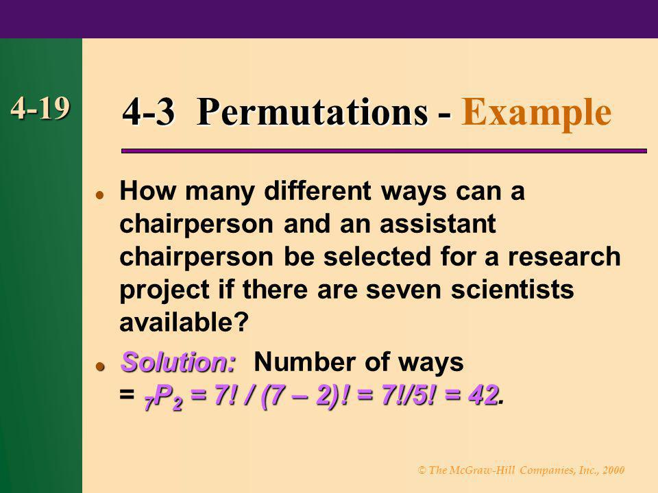 4-3 Permutations - Example