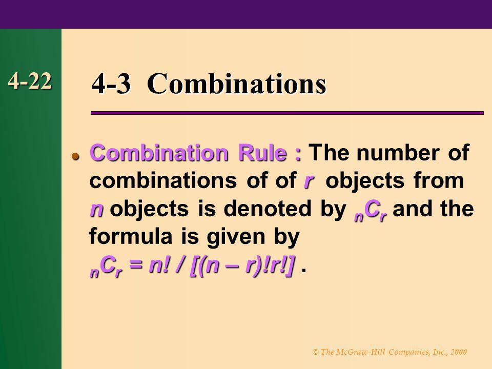 4-3 Combinations 4-22.