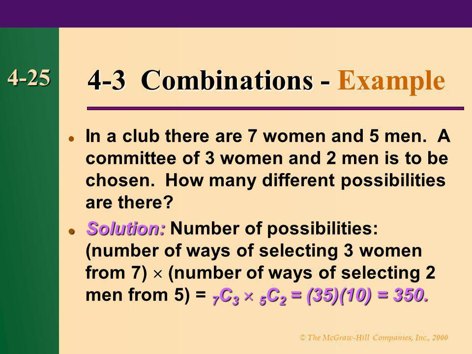 4-3 Combinations - Example