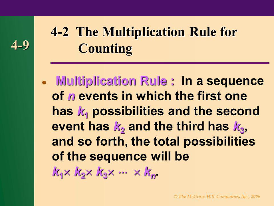 4-2 The Multiplication Rule for Counting