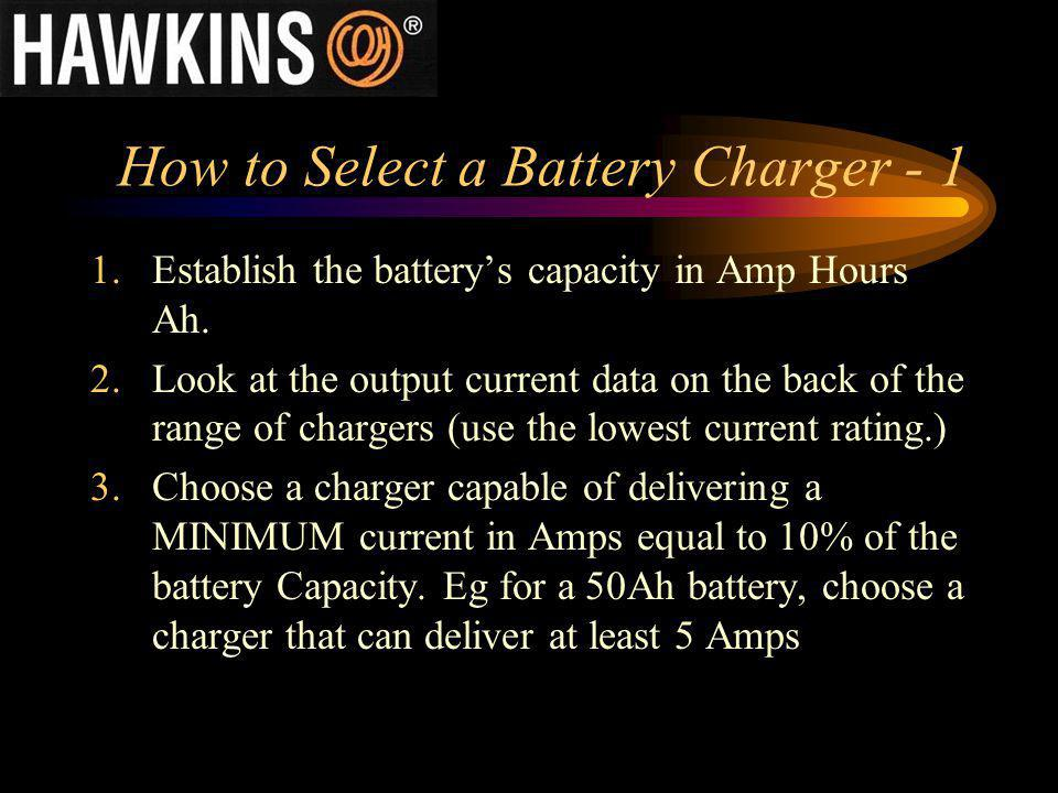 How to Select a Battery Charger - 1