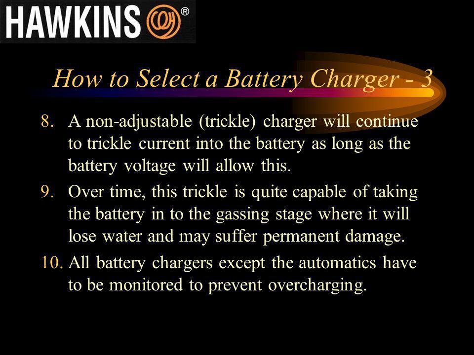 How to Select a Battery Charger - 3