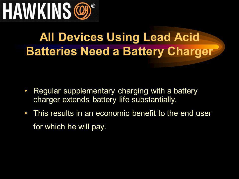 All Devices Using Lead Acid Batteries Need a Battery Charger