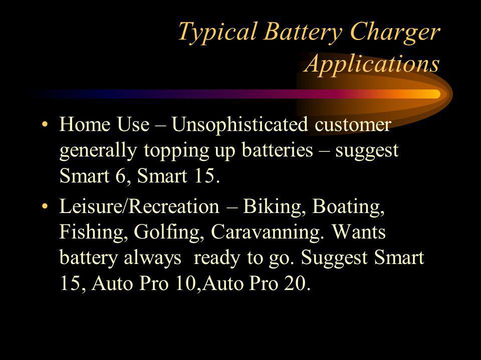Typical Battery Charger Applications