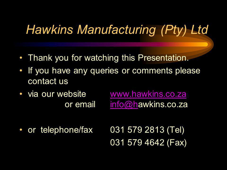 Hawkins Manufacturing (Pty) Ltd
