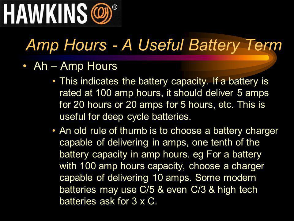 Amp Hours - A Useful Battery Term