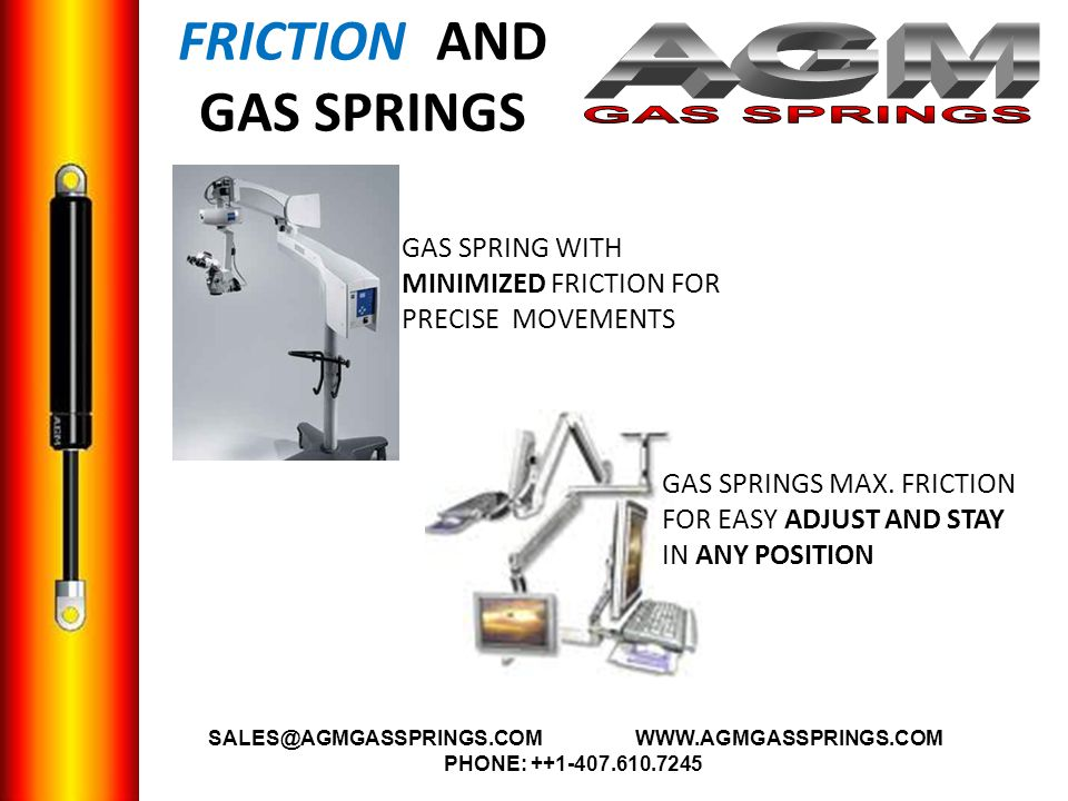 FRICTION AND GAS SPRINGS