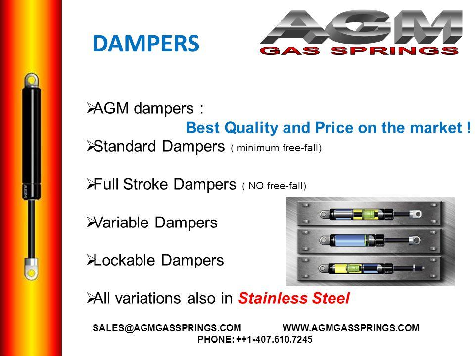 AGM GAS SPRINGS DAMPERS AGM dampers :