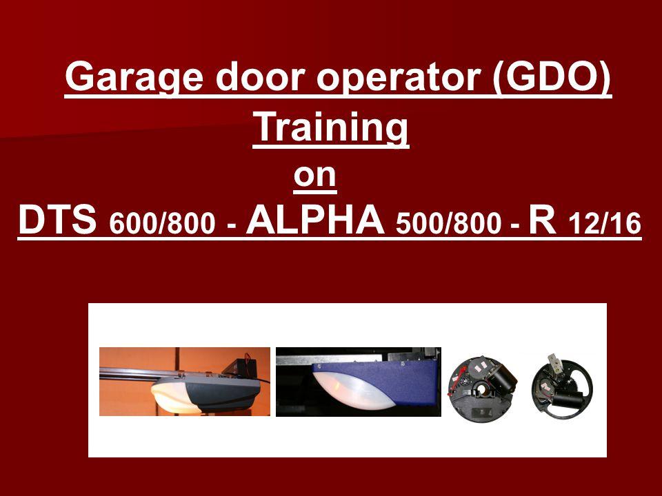 Garage door operator (GDO) Training