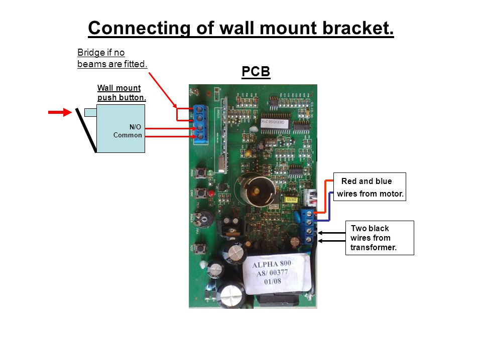 Connecting of wall mount bracket.