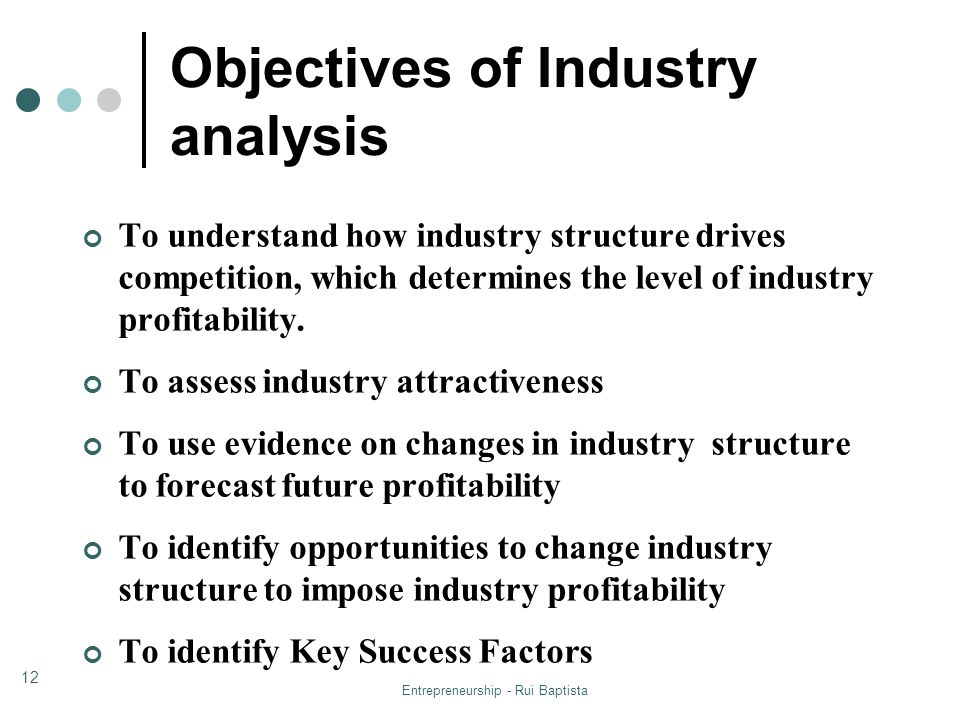 Objectives of Industry analysis